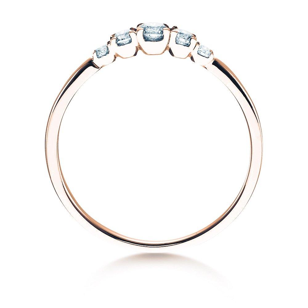Verlobungsring 5 Diamonds in Roségold bei JUWELIER.de