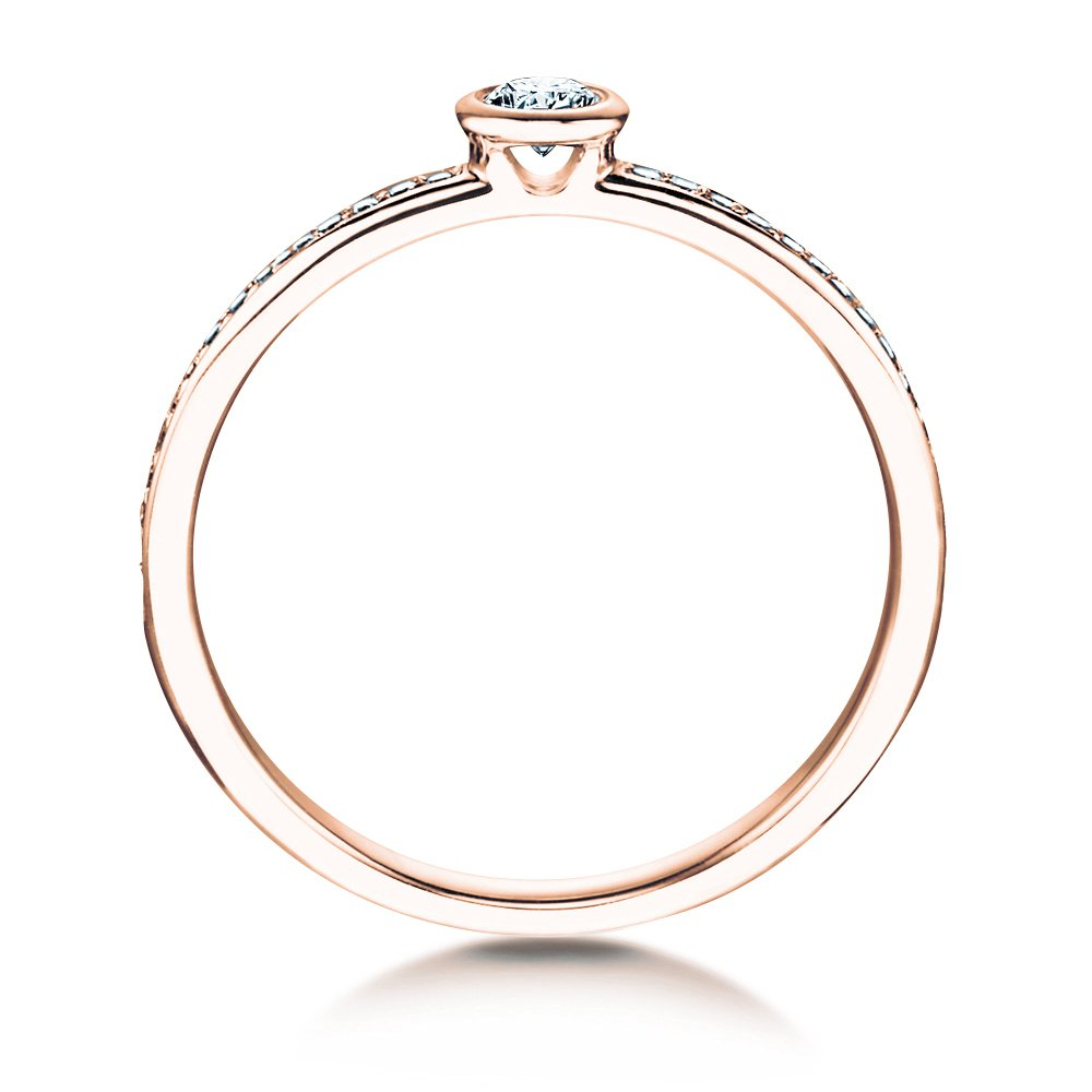 Solitärring Eternal Pavé in 14K Roségold mit Diamant 0,70ct bei JUWELIER.de