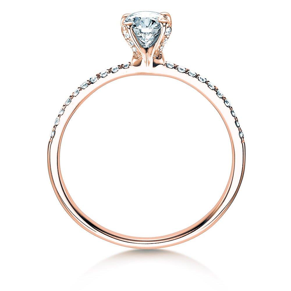 Verlobungsring Grace in 18K Roségold mit Diamant 0,70ct bei JUWELIER.de