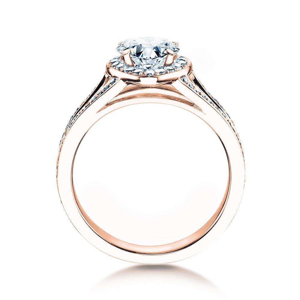 Verlobungsring Flame in 18K Roségold mit Diamant 1,54ct bei JUWELIER.de