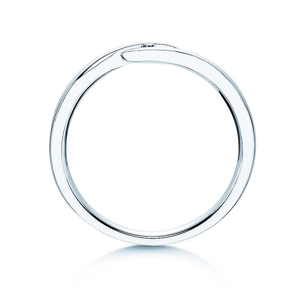 Verlobungsring Twist in Silber mit Diamant 0,03ct G/SI bei JUWELIER.de
