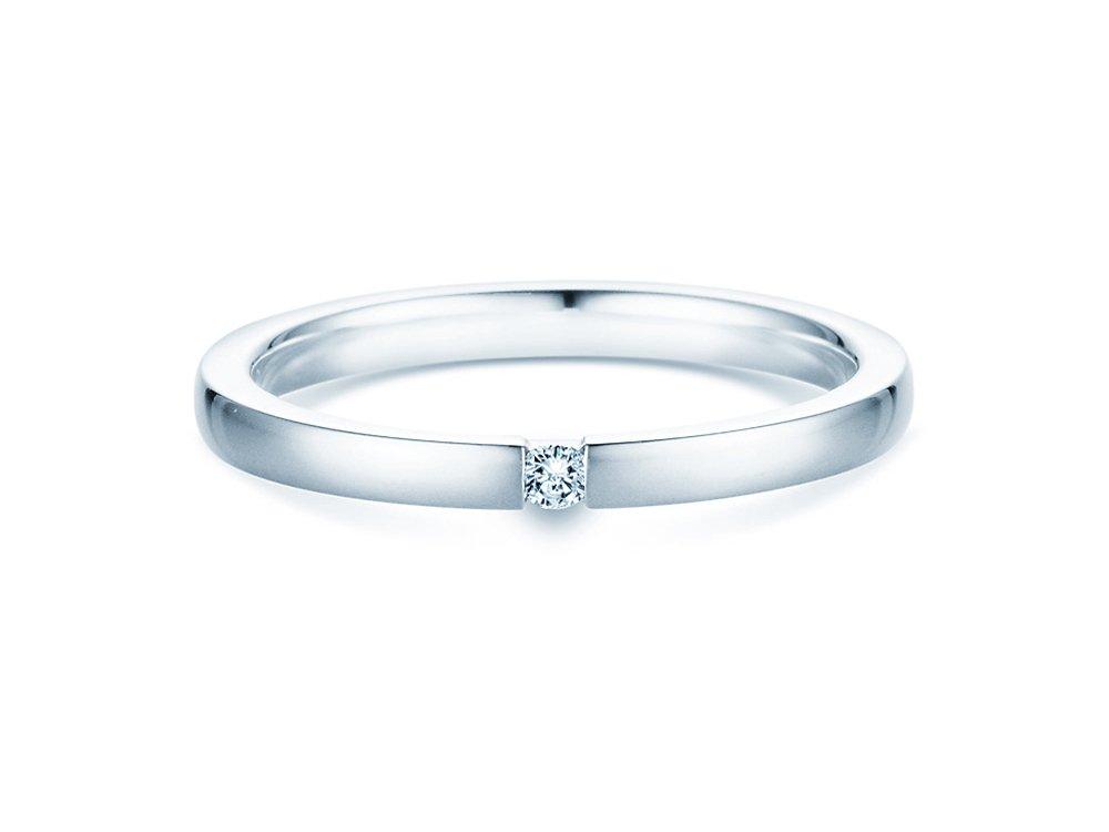 Verlobungsring Infinity in Silber und Diamant 0,05ct G/SI bei JUWELIER.de