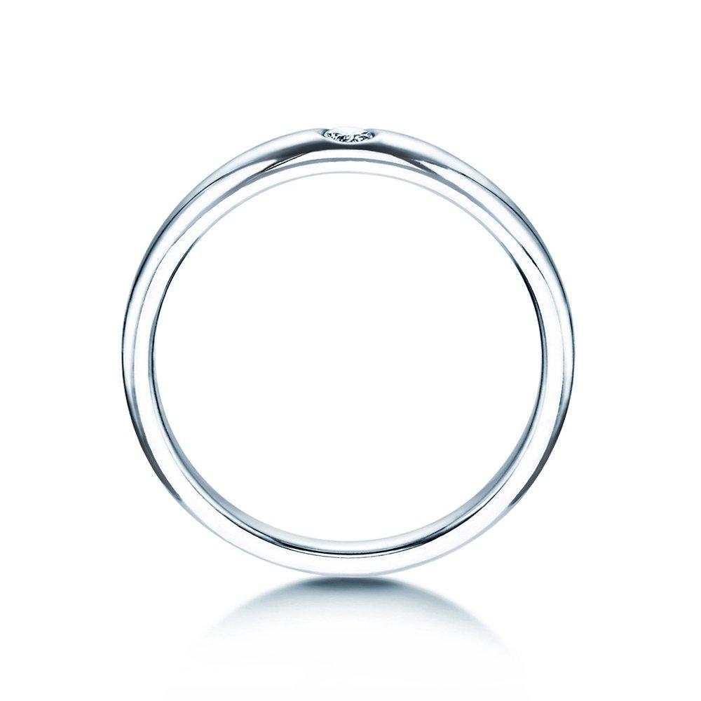 Verlobungsring Promise in Silber mit Diamant 0,05ct G/SI bei JUWELIER.de