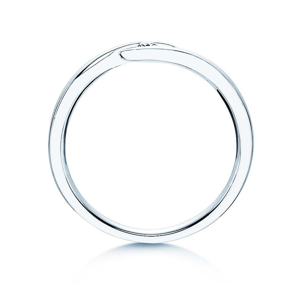 Verlobungsring Twist in Silber mit Diamant 0,05ct G/SI bei JUWELIER.de