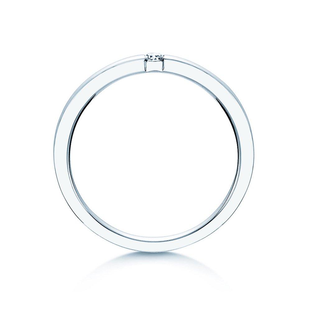 Verlobungsring Infinity in Silber und Diamant 0,07ct G/SI bei JUWELIER.de