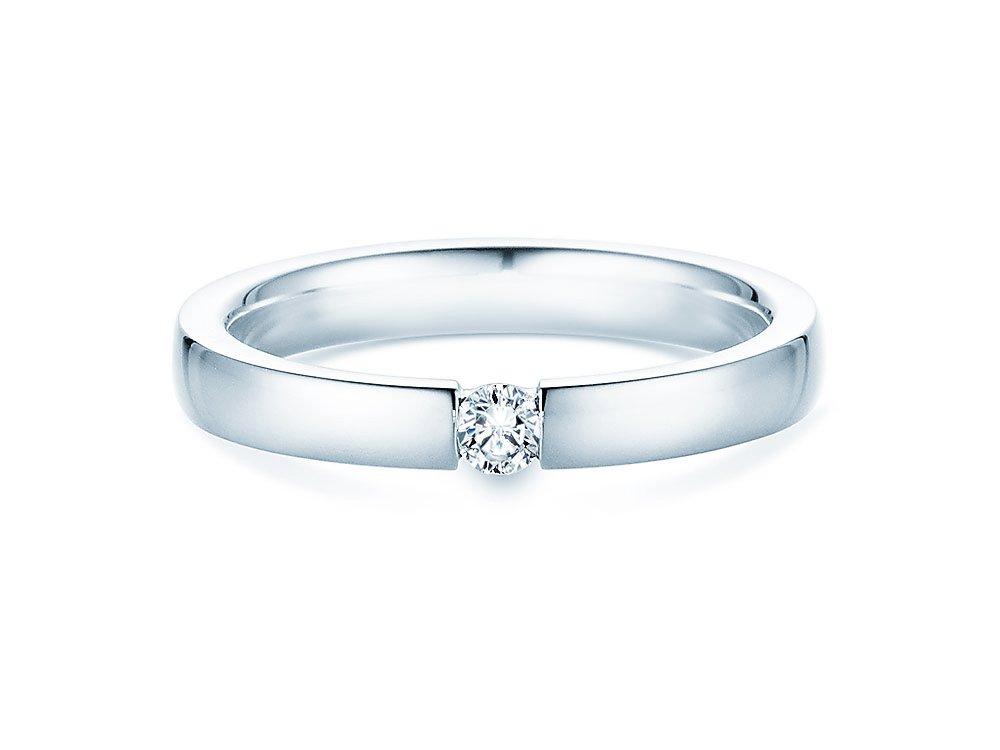 Verlobungsring Infinity in Silber und Diamant 0,10ct G/SI bei JUWELIER.de