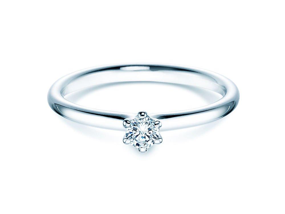 Verlobungsring Classic in Silber mit Diamant 0,15ct G/SI bei JUWELIER.de