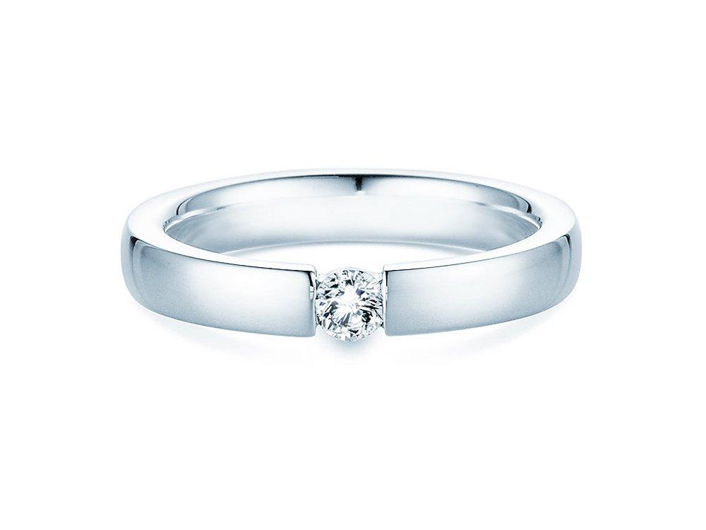 Verlobungsring Infinity in Silber und Diamant 0,15ct G/SI bei JUWELIER.de