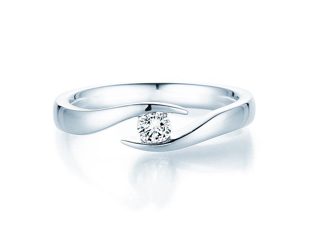Verlobungsring Twist in Silber mit Diamant 0,15ct G/SI bei JUWELIER.de