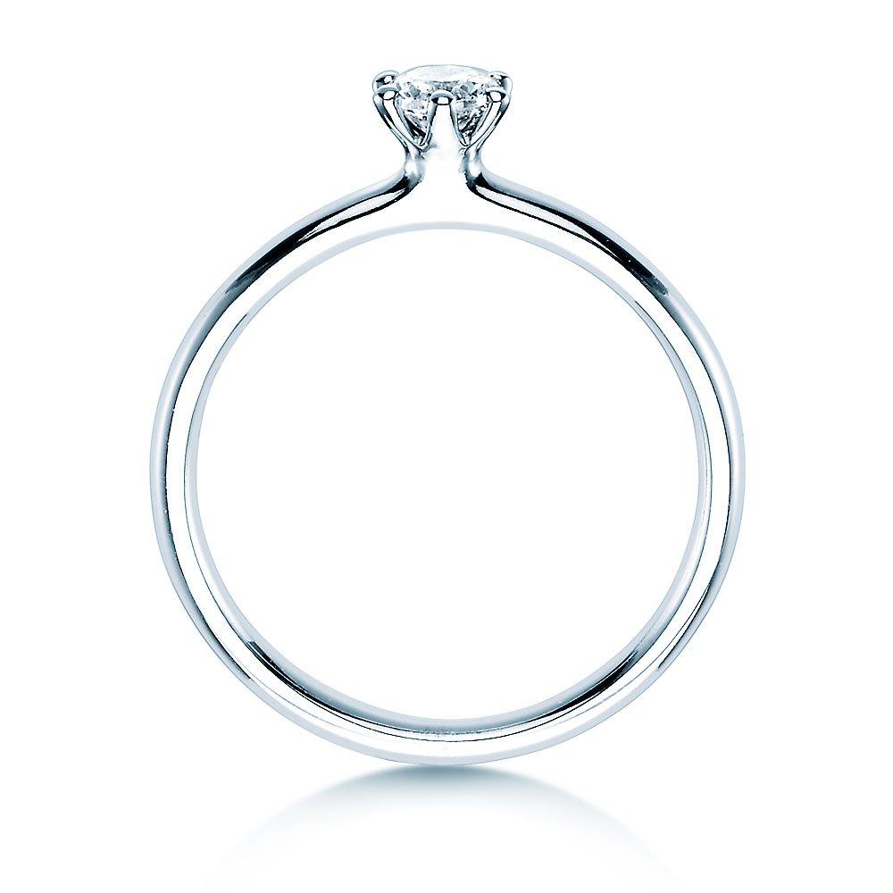 Verlobungsring Classic in Silber mit Diamant 0,25ct H/SI bei JUWELIER.de