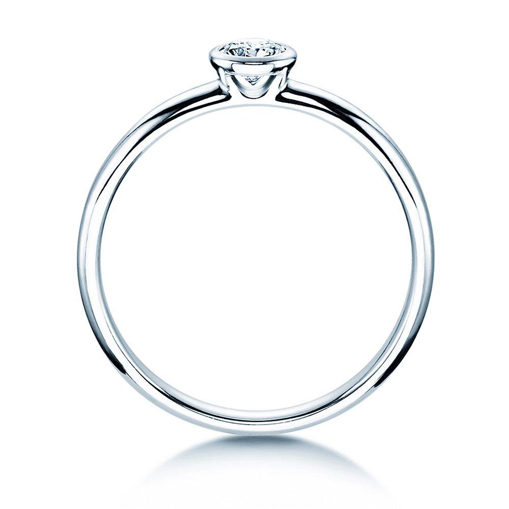 Solitärring Eternal in Silber mit Diamant 0,25ct H/SI bei JUWELIER.de