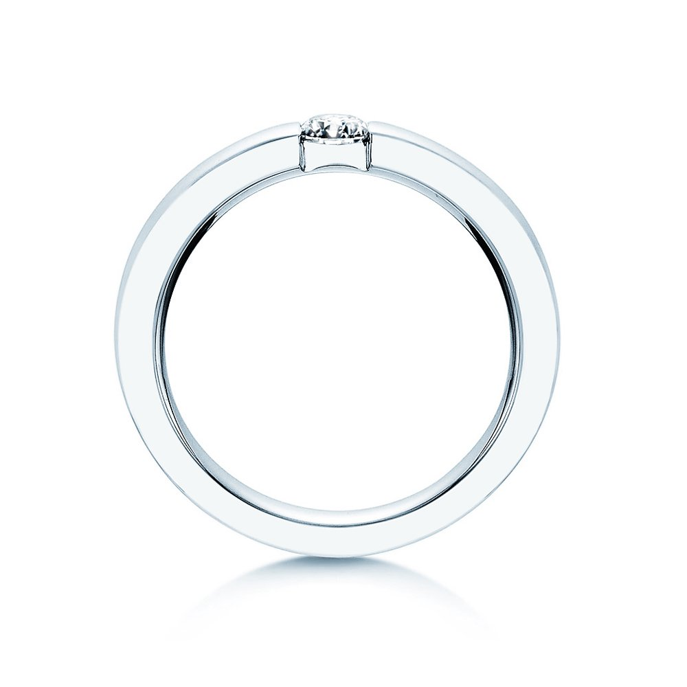 Verlobungsring Infinity in Silber mit Diamant 0,25ct H/SI bei JUWELIER.de