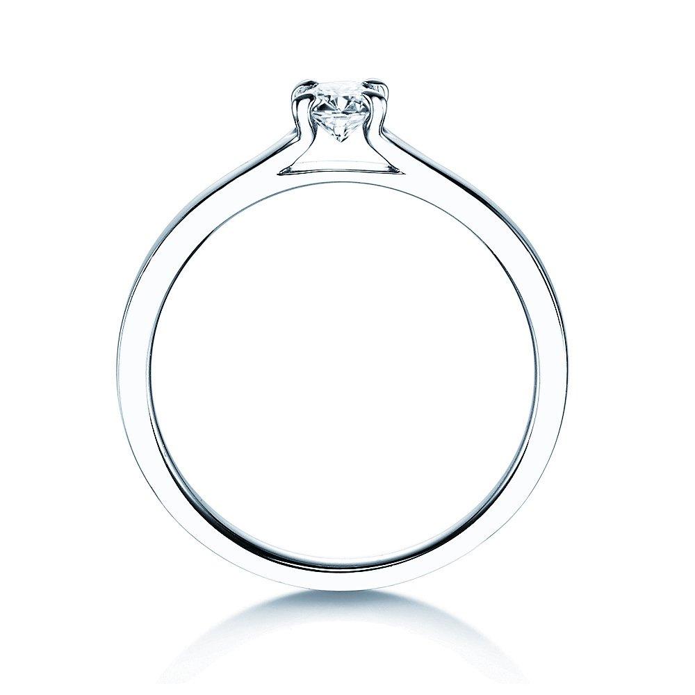 Verlobungsring Modern in Silber mit Diamant 0,25ct H/SI bei JUWELIER.de