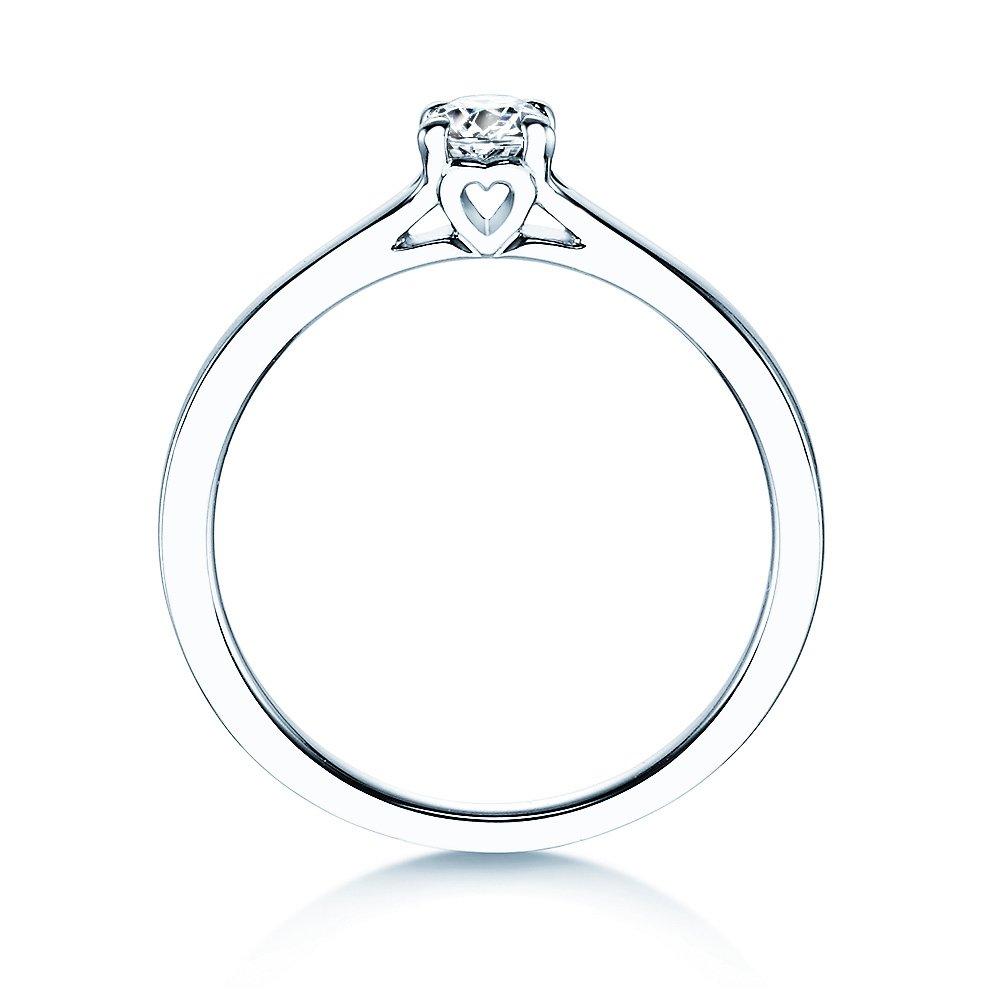 Verlobungsring Romance in Silber mit Diamant 0,25ct H/SI bei JUWELIER.de