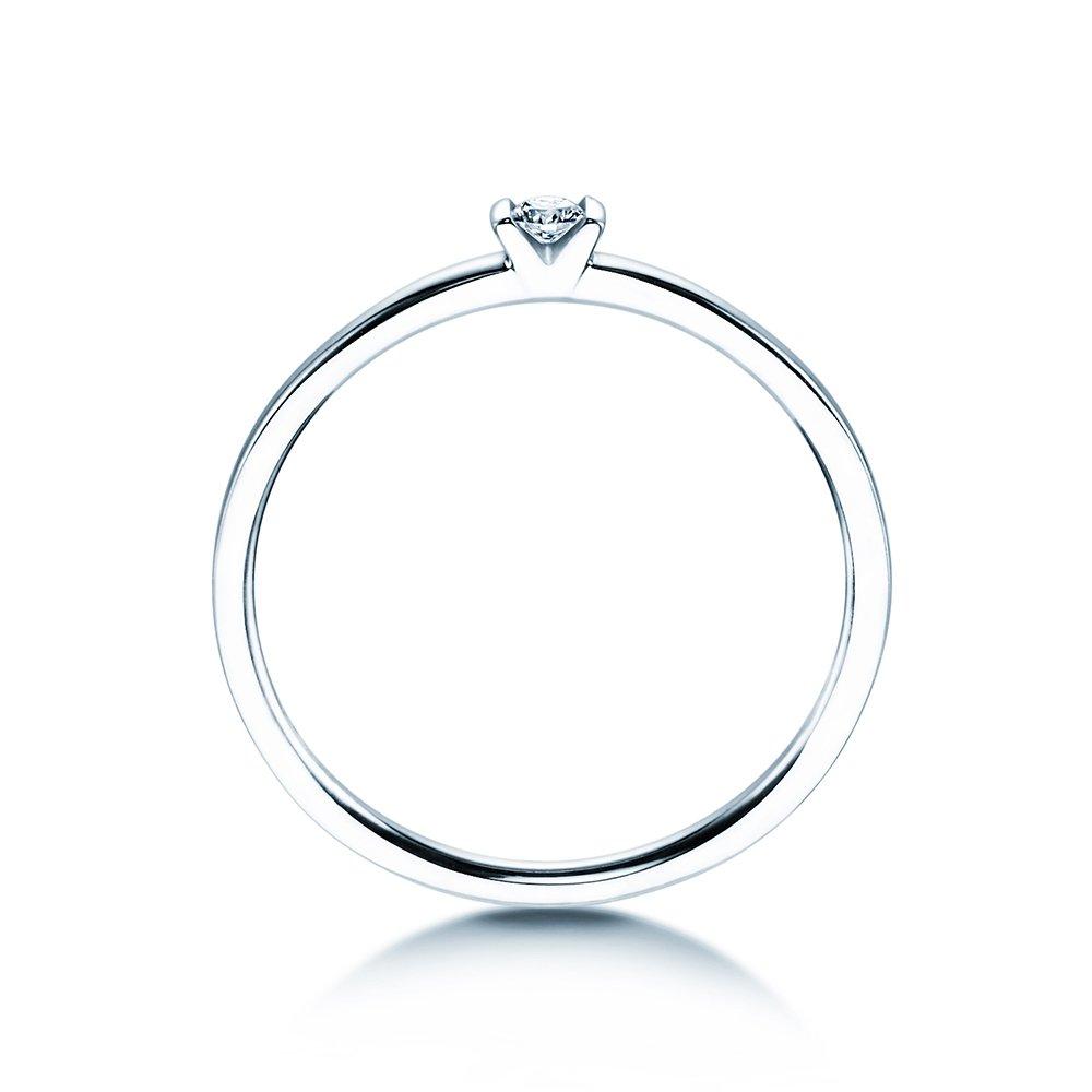 Solitärring Love in Weißgold mit Diamant 0,04ct bei JUWELIER.de