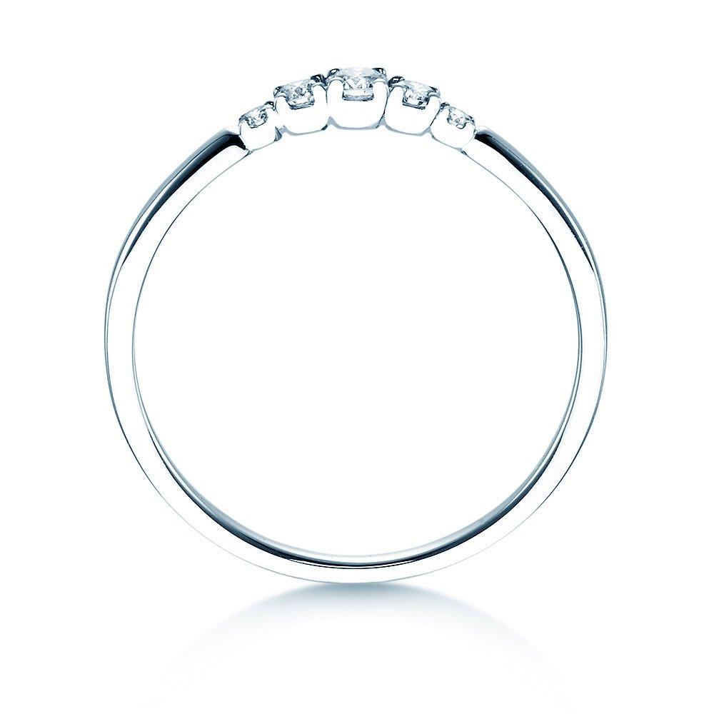 Verlobungsring 5 Diamonds in Weißgold bei JUWELIER.de