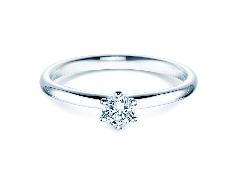 Verlobungsring Classic in 14K Weißgold mit Diamant 0,25ct G/SI bei JUWELIER.de