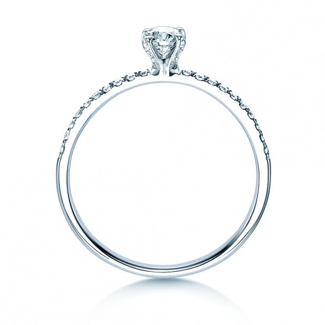 Verlobungsring Grace Petite in 18K Weißgold mit Diamant 0,43ct bei JUWELIER.de