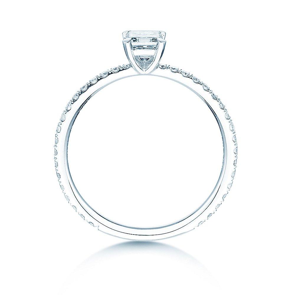 Verlobungsring Elaine in 18K Weissgold mit Diamant 0,86ct bei JUWELIER.de