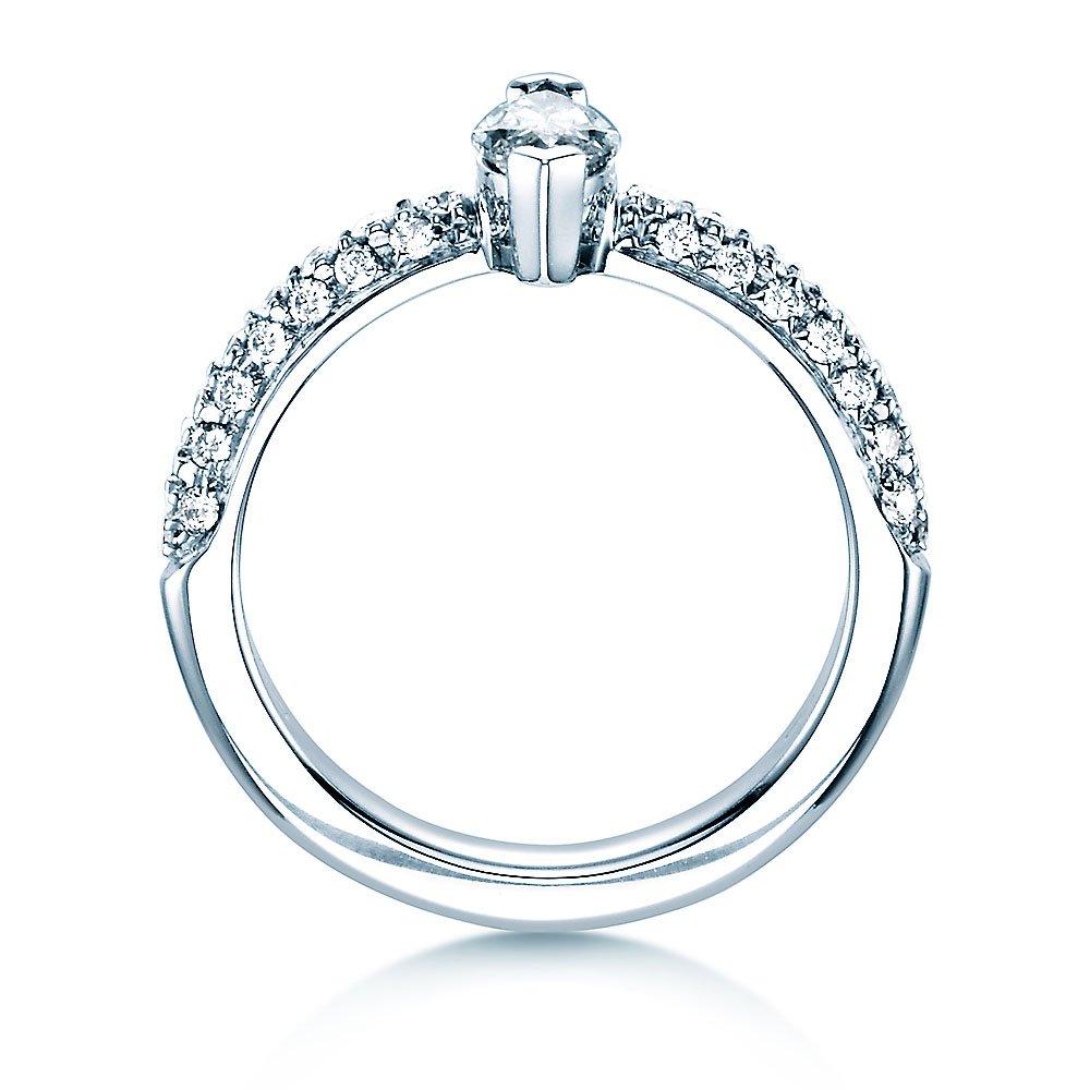 Verlobungsring Louis in 18K Weißgold mit Diamant 1,00ct bei JUWELIER.de