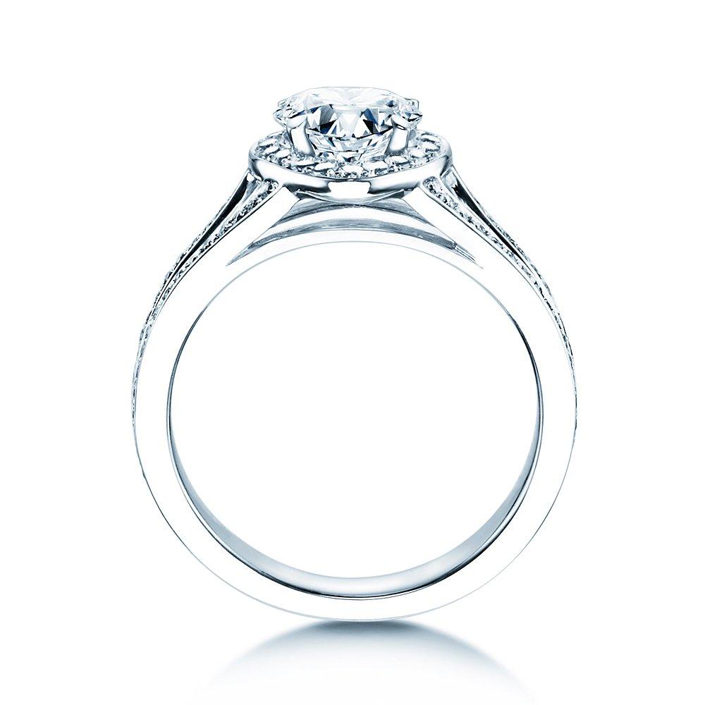 Verlobungsring Flame in 18K Weißgold mit Diamant 1,54ct bei JUWELIER.de