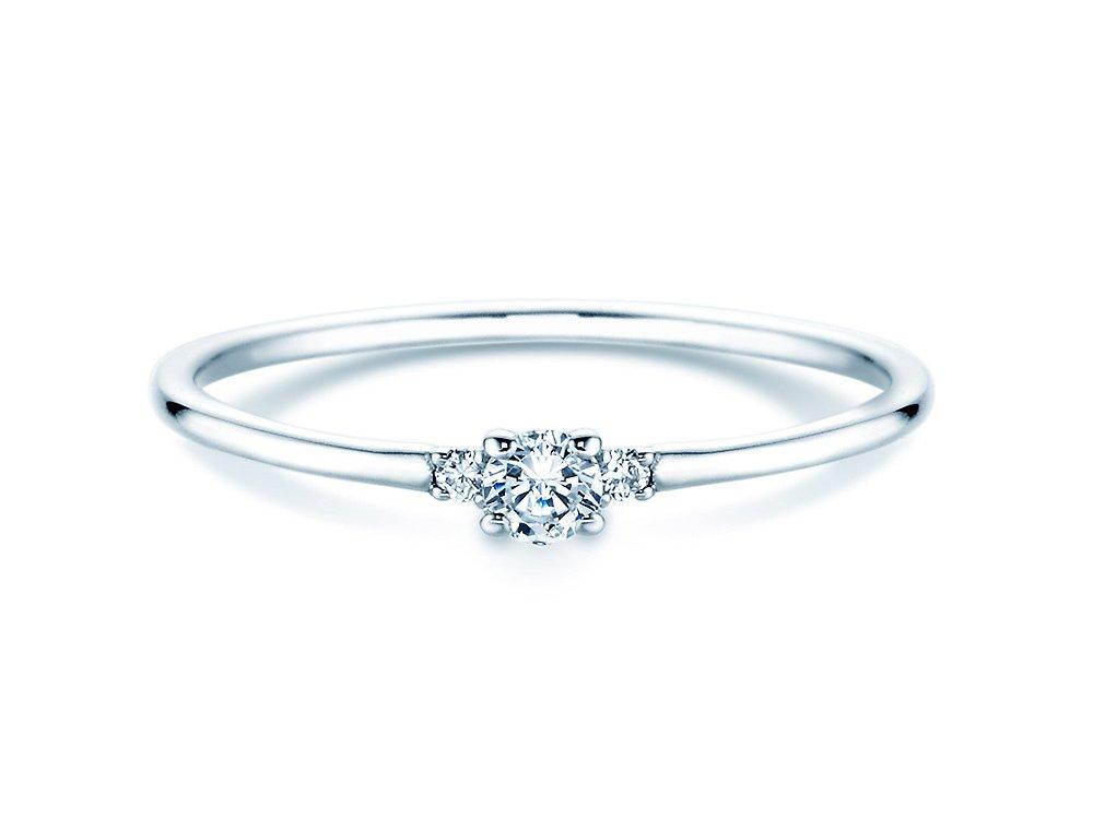 Verlobungsring Glory Petite in Platin mit Diamanten 0,10ct bei JUWELIER.de