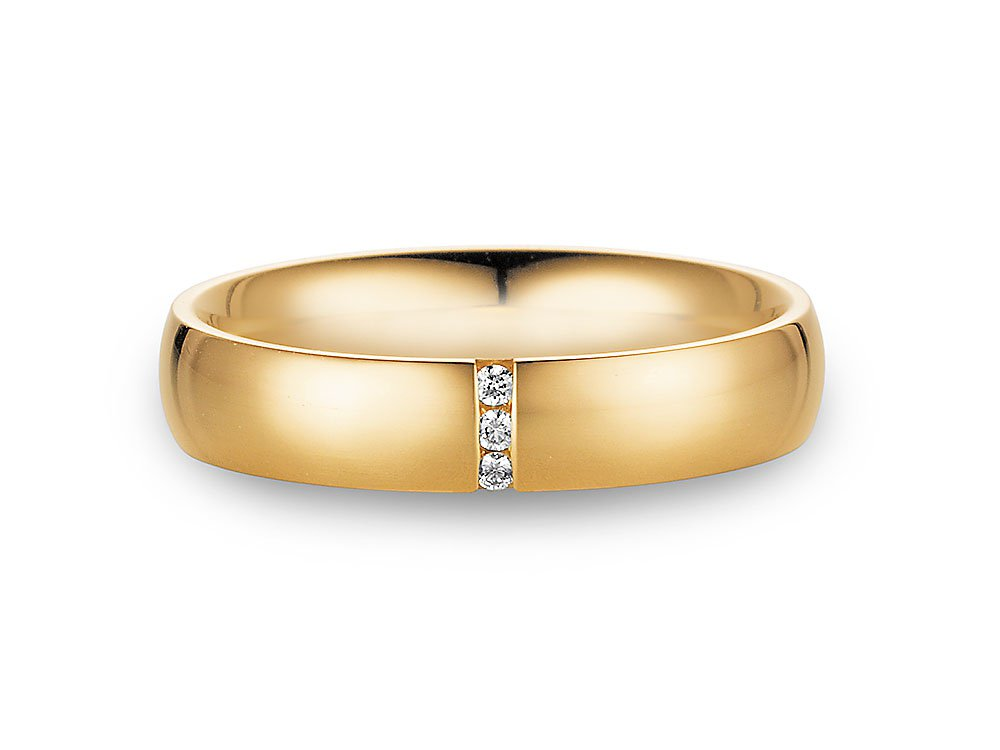 "Eheringe ""With You"" in 14K Gelbgold Made in Germany"