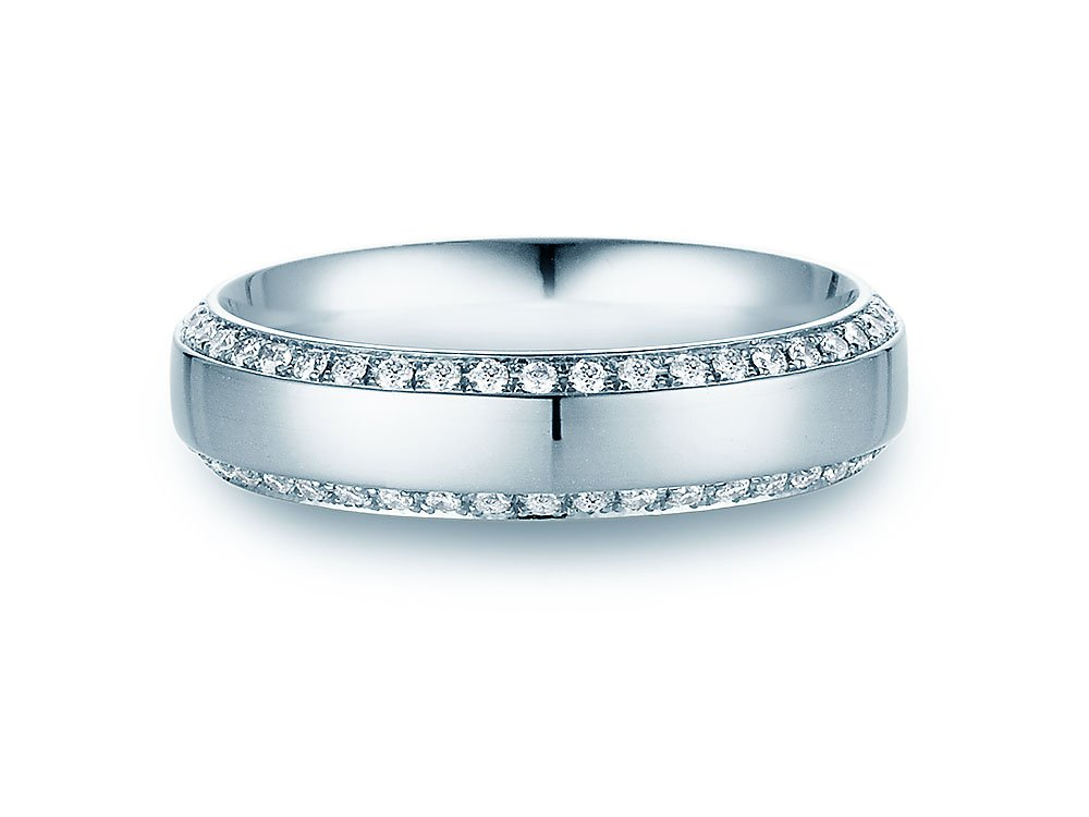 "Eheringe ""Love Life"" in Platin 950/- mit Diamanten 0,30ct Made in Germany"