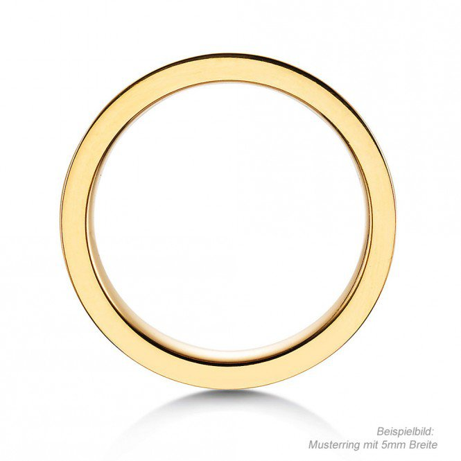 Herrenring Modern in Gelbgold Made in Germany