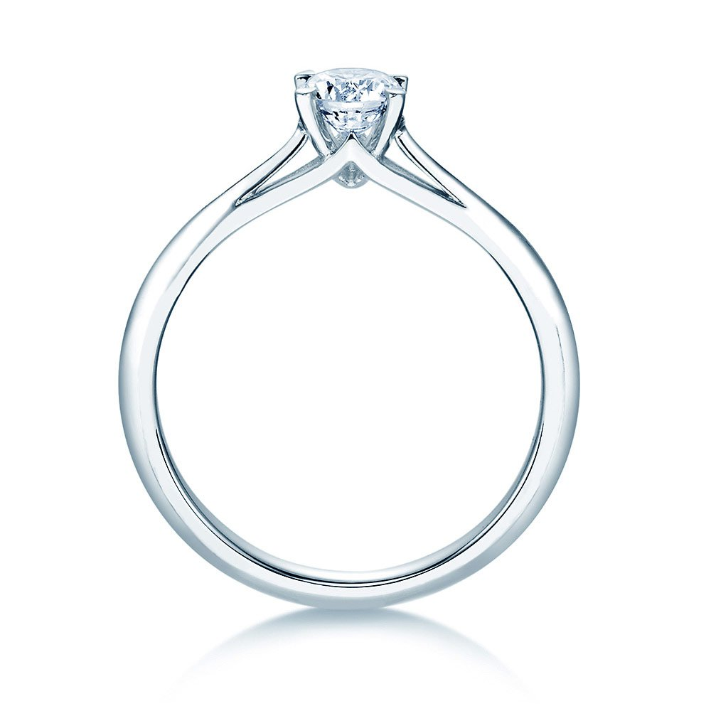 Solitärring Heaven 4 in 14K Weißgold mit Diamant 0,50ct H/SI Made in Germany