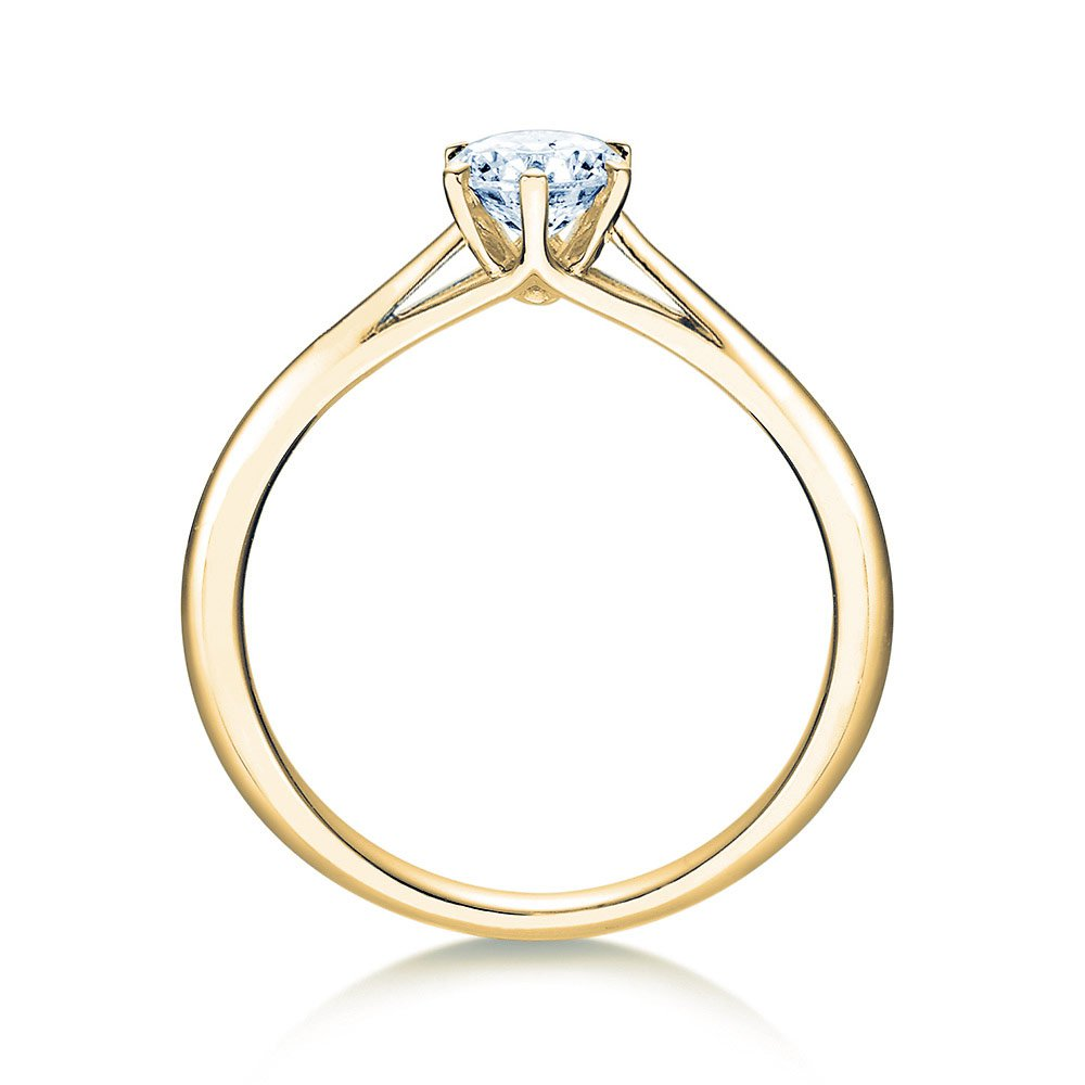 Solitärring Heaven 6 in 14K Gelbgold mit Diamant 0,50ct H/SI Made in Germany