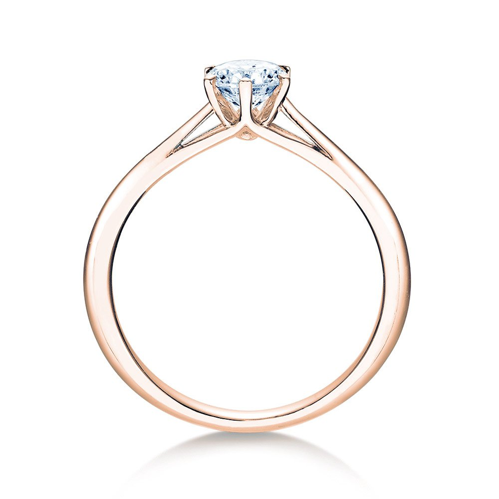 Solitärring Heaven 6 in 14K Roségold mit Diamant 0,50ct H/SI Made in Germany