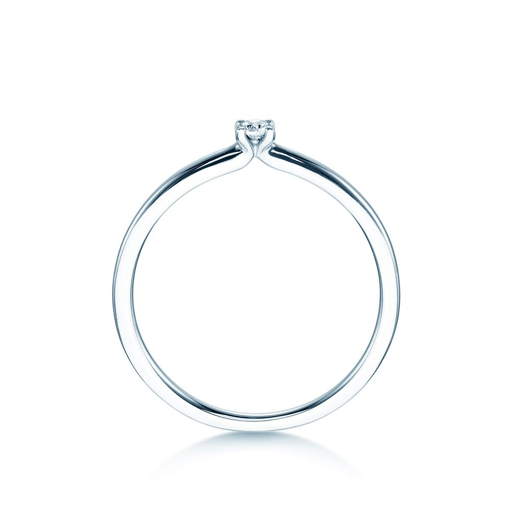 Verlobungsring Classic 4 in Silber mit Diamant Made in Germany
