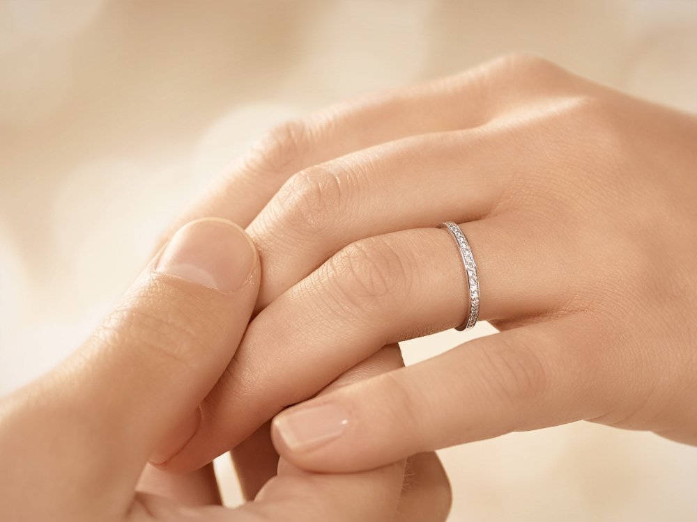Alliance-/Eternity-Ring in Platin Made in Germany