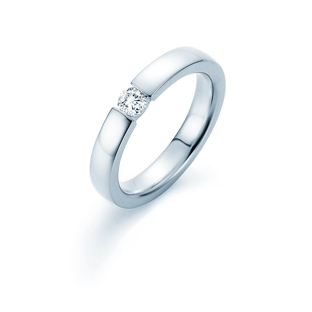 Verlobungsring Infinity in Silber mit Diamant 0,25ct H/SI Made in Germany