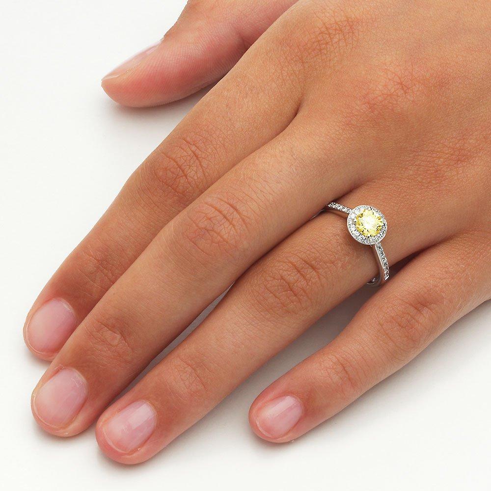 Halo Intense in 18K Weißgold mit Diamant 0,78ct Made in Germany