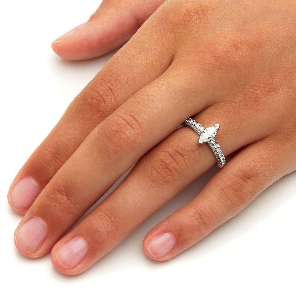 Verlobungsring Louis in 18K Weißgold mit Diamant 1,00ct Made in Germany
