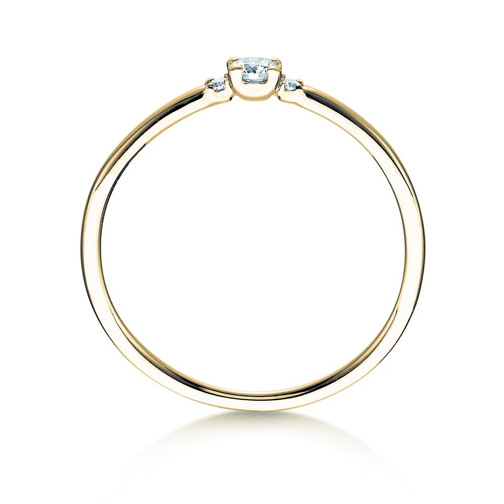 Verlobungsring Glory Petite in Gelbgold Made in Germany