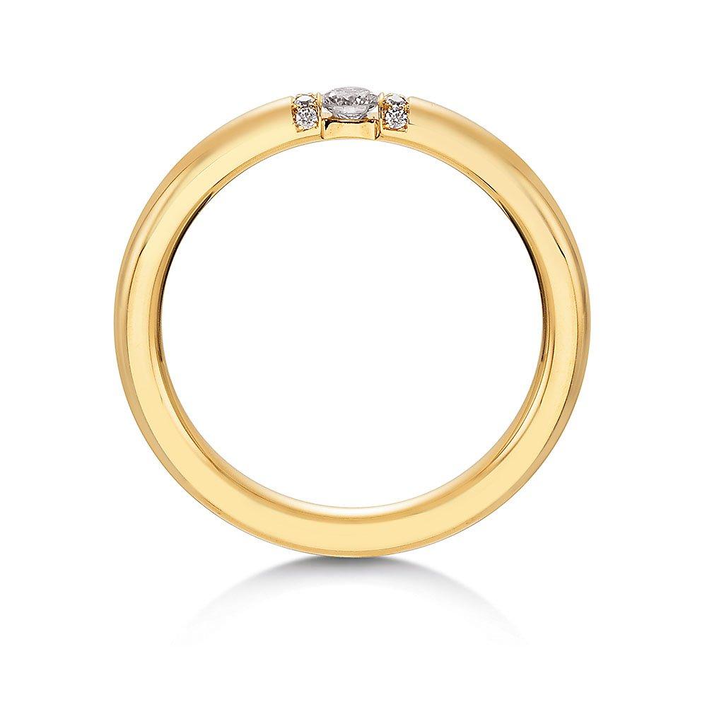 """Eheringe """"Diamond Star"""" in 8K Gelbgold im Online Shop"""