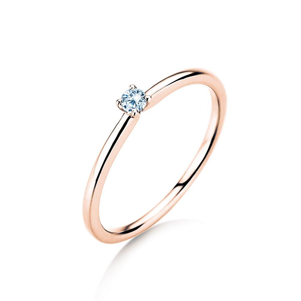 Verlobungsring Classic 4 in Roségold mit Diamant im Online Shop
