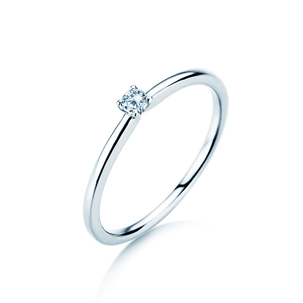 Verlobungsring Classic 4 in Silber mit Diamant 0,05ct G/SI im Online Shop