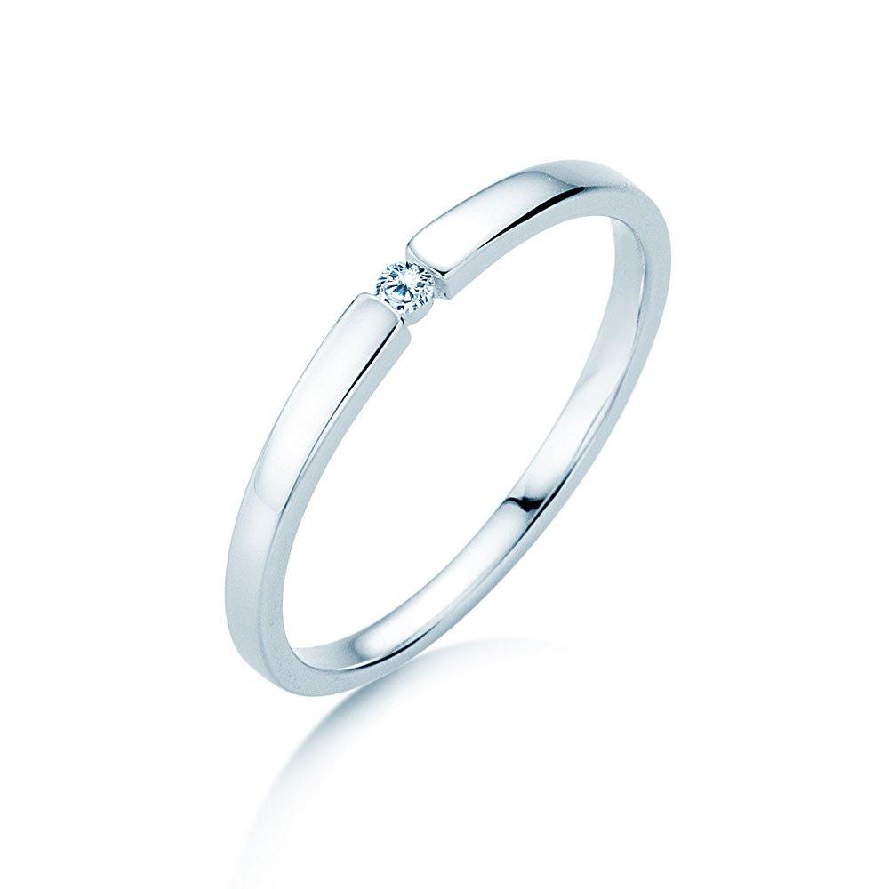 Verlobungsring Infinity Petite in Weißgold im Online Shop