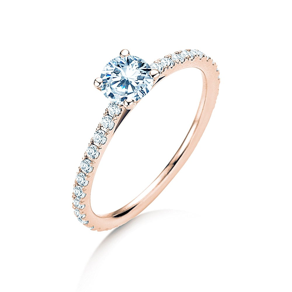 Diamantring Pure Diamond in 14k Roségold mit Diamanten 0,82ct im Online Shop