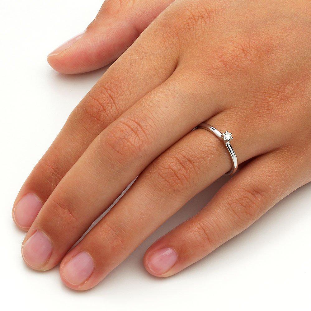 Verlobungsring Classic in Silber mit Diamant 0,05ct G/SI im Online Shop