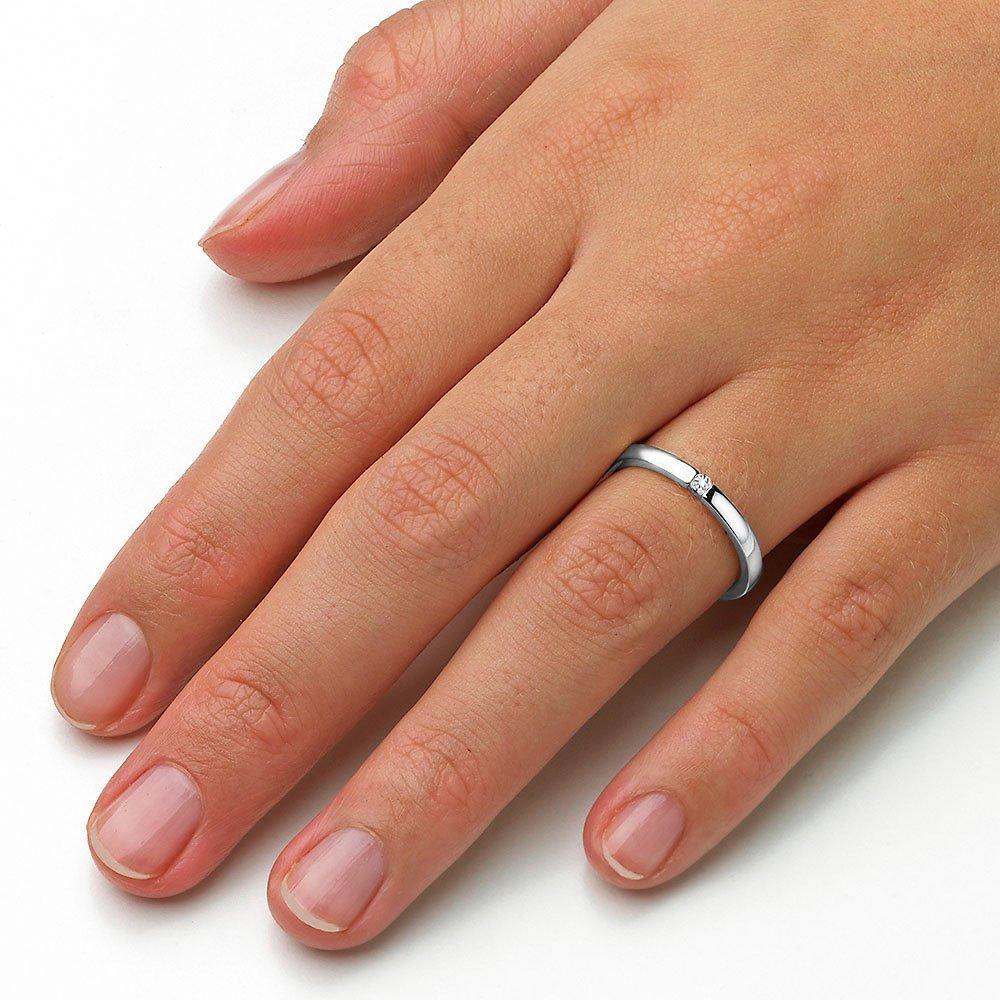 Verlobungsring Infinity in Silber und Diamant 0,07ct G/SI im Online Shop