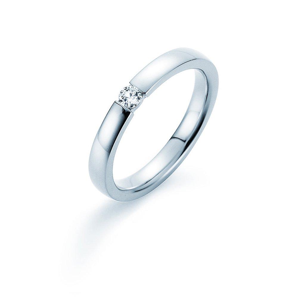 Verlobungsring Infinity in Silber und Diamant 0,10ct G/SI im Online Shop
