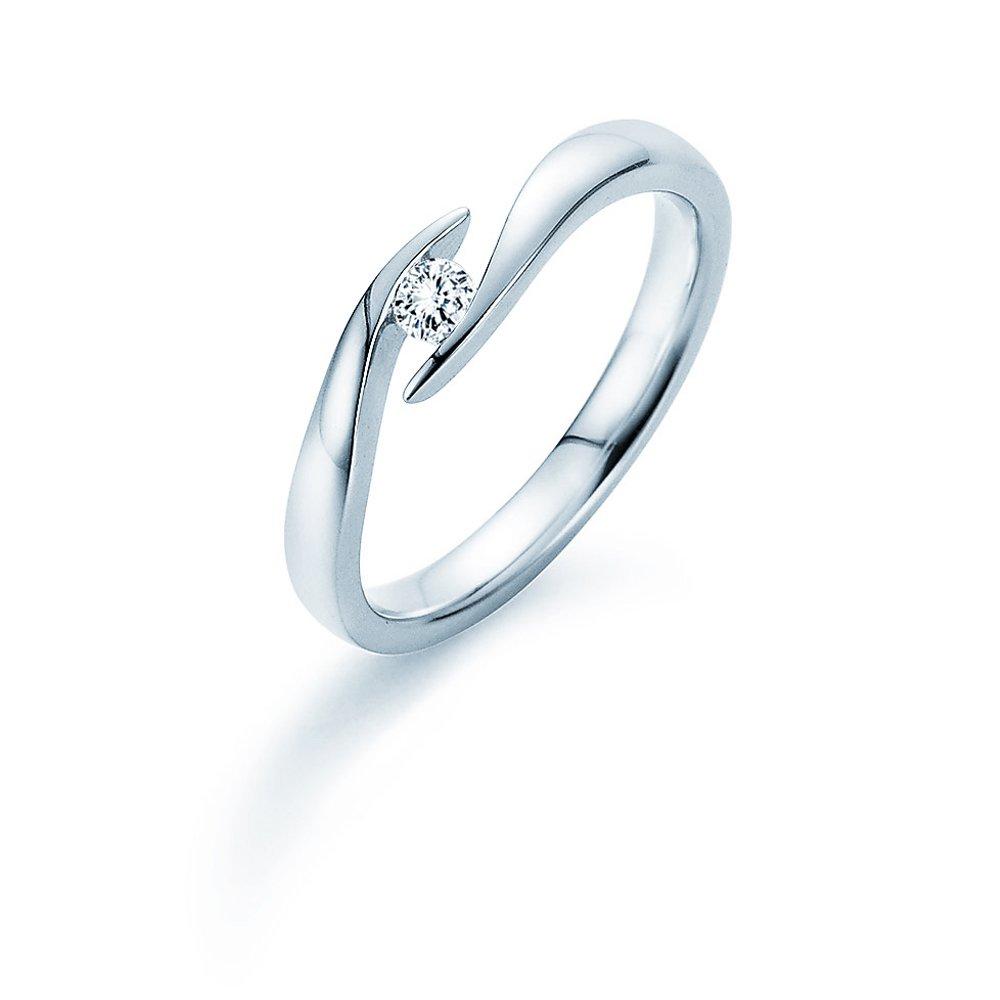 Verlobungsring Twist in Silber und Diamant 0,10ct G/SI im Online Shop