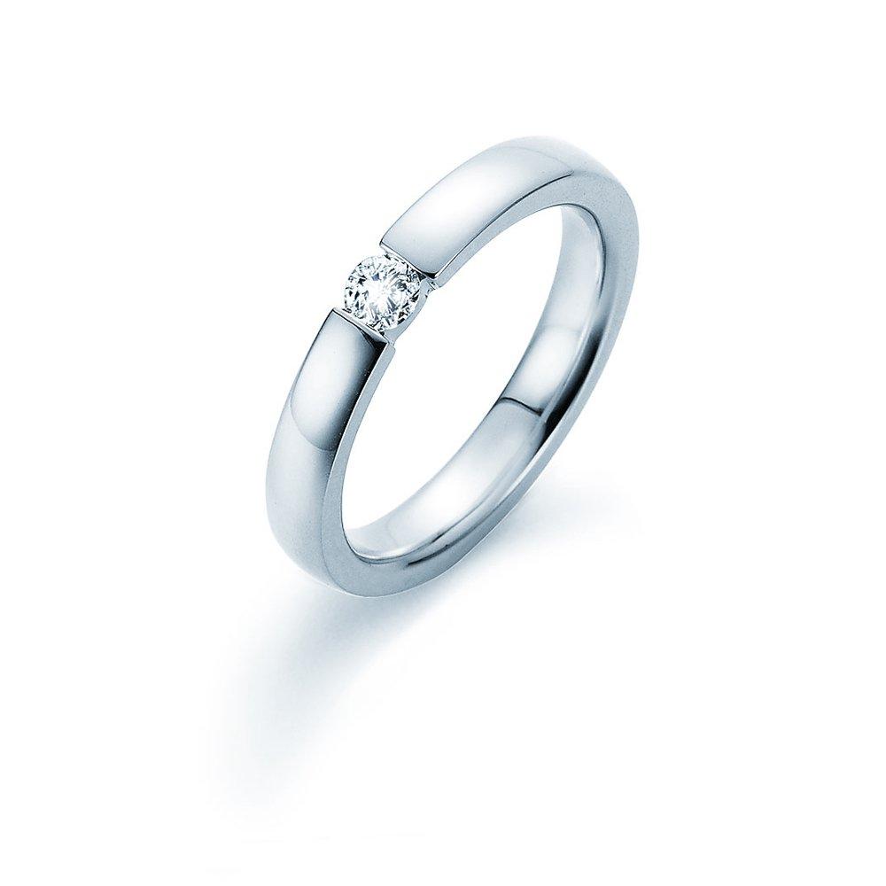 Verlobungsring Infinity in Silber und Diamant 0,15ct G/SI im Online Shop