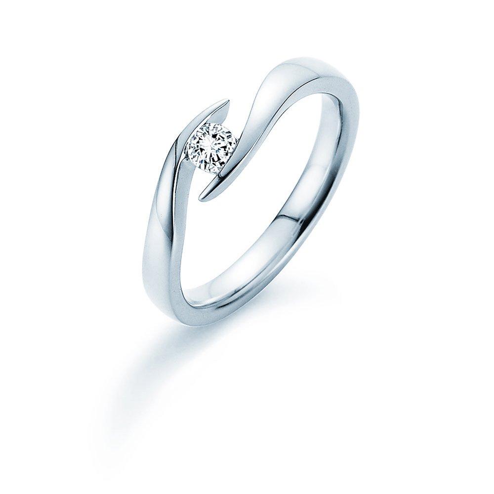 Verlobungsring Twist in Silber mit Diamant 0,15ct G/SI im Online Shop