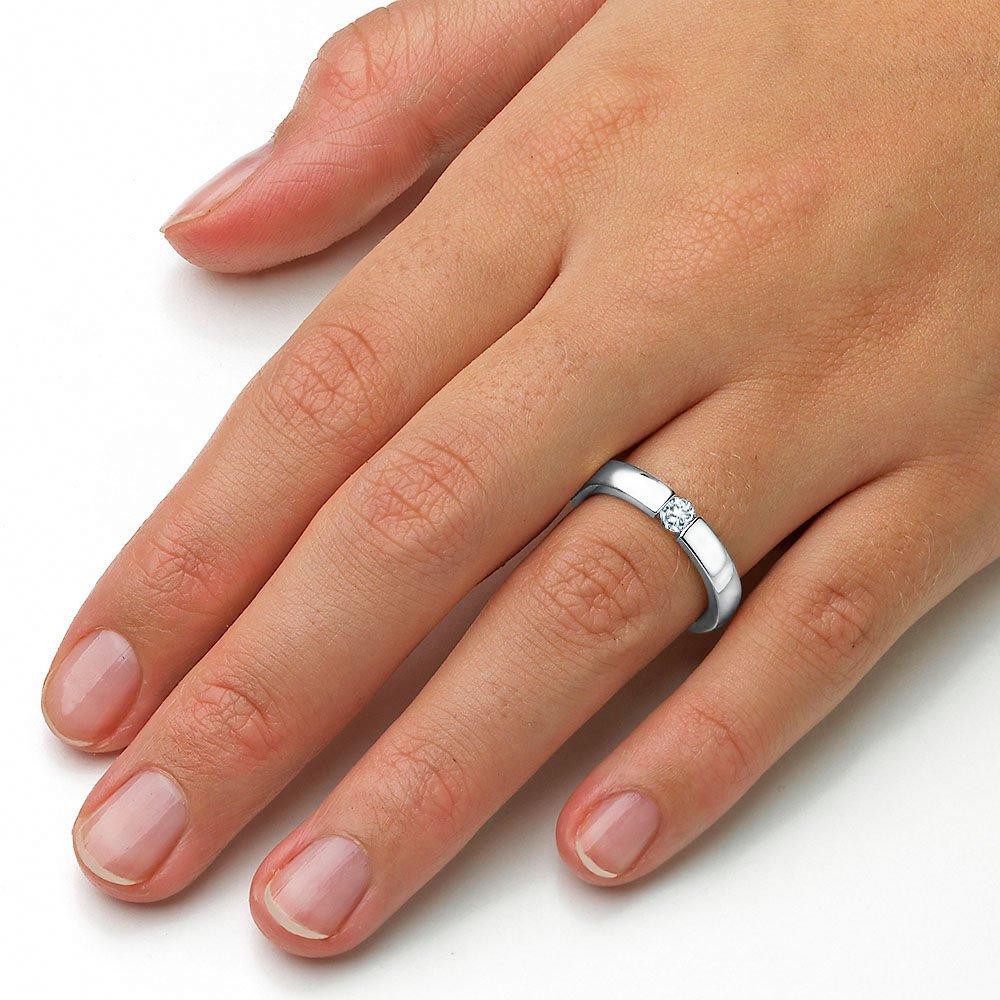 Verlobungsring Infinity in Silber mit Diamant 0,25ct H/SI im Online Shop